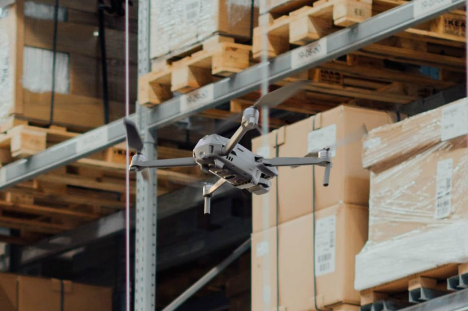 Application of drones in warehouses